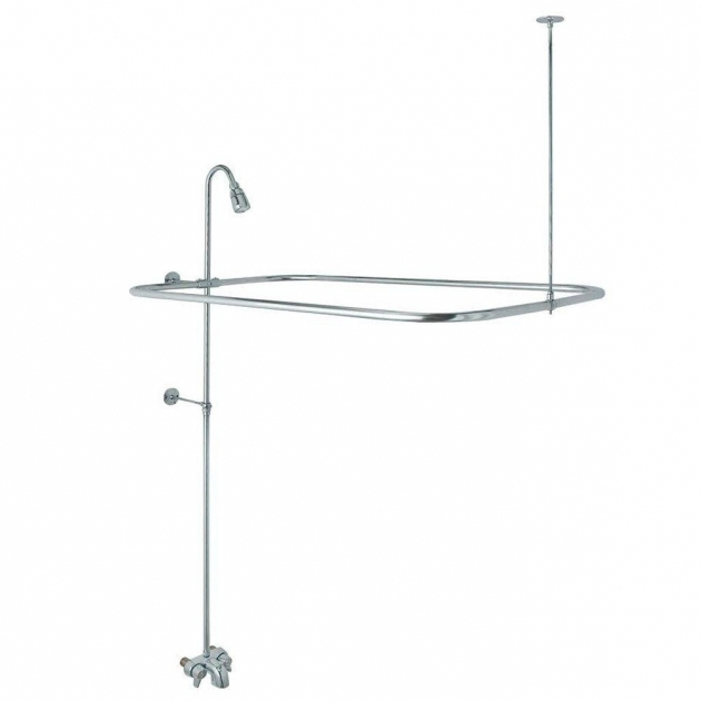 Alluring Shower Kit For Clawfoot Tub Danco Add A Shower Kit For Clawfoot Tub In Chrome 9d00052406 The