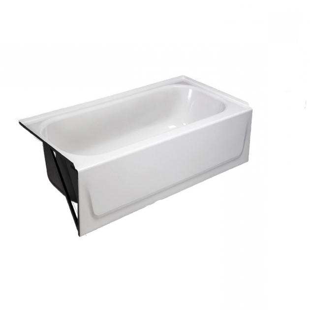 Awesome Briggs Bathtub Shop Briggs White Enameled Steel Rectangular Alcove Bathtub With