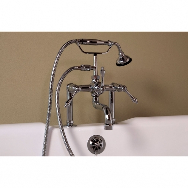 Awesome Clawfoot Tub Handheld Shower Plumbing Deck Mount Clawfoot Tub Faucet With Handheld Shower