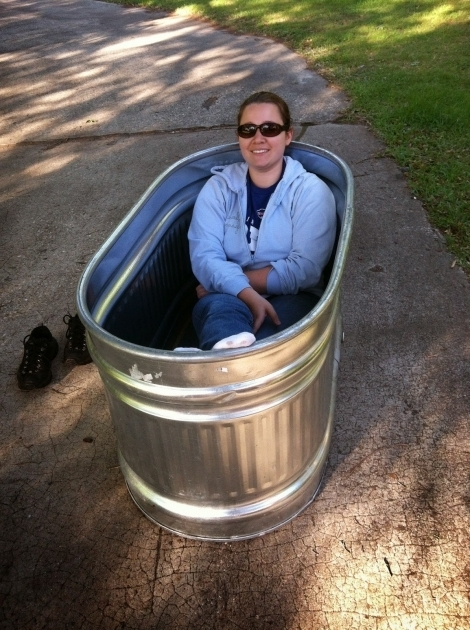 Beautiful Galvanized Bathtub Just Right Bus Living With A Water Trough Bathtub