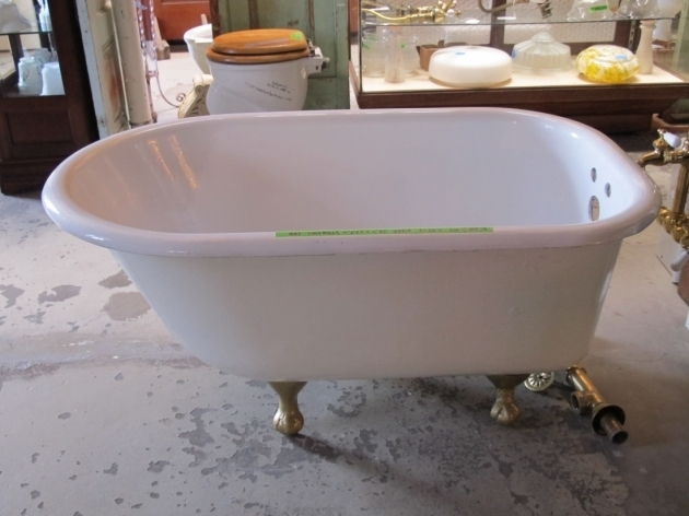 Fantastic 4 Foot Clawfoot Tub Bathroom Modern Image Of Bathroom Design And Decoration Using