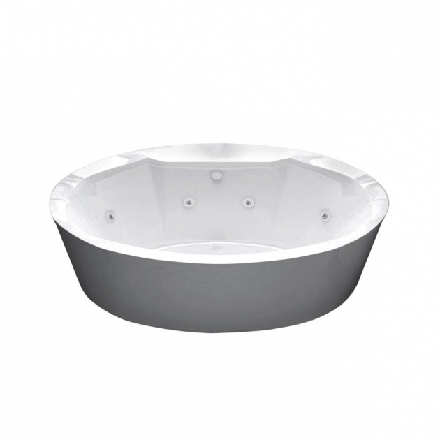 Fascinating Freestanding Whirlpool Tubs Universal Tubs Sunstone 57 Ft Whirlpool Tub In White Hd3468sw