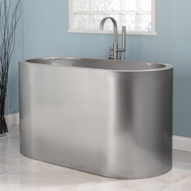 Fascinating Stainless Steel Soaking Tub 60 Minato Brushed Stainless Steel Soaking Tub Bathtubs Bathroom