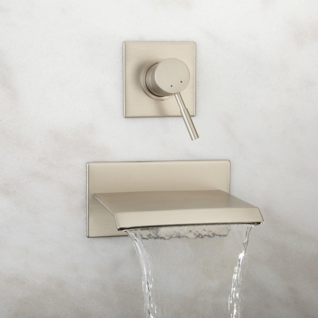 Fascinating Whirlpool Tub Faucets Lavelle Wall Mount Waterfall Tub Faucet Chrome Finish Full Bath