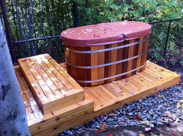Fascinating Wood Fired Japanese Soaking Tub Wooden Bathtubs Nifty Homestead