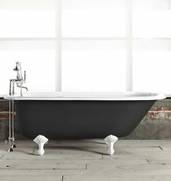 Image of Black Clawfoot Tub 5 Clawfoot Tub With Black Exterior Rejuvenation