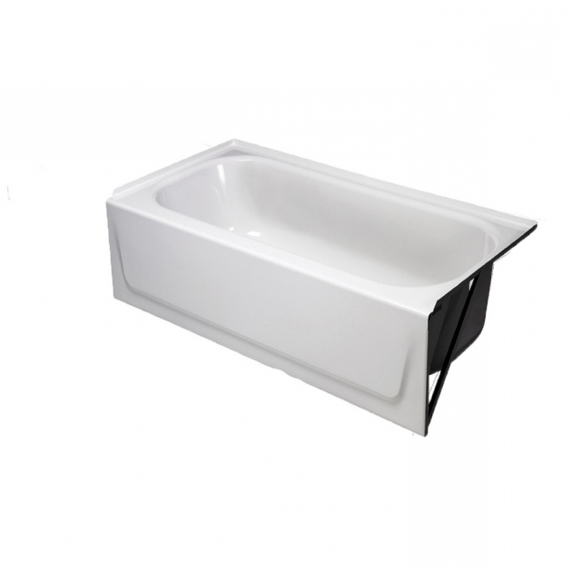 Image of Briggs Bathtub Shop Briggs White Enameled Steel Rectangular Alcove Bathtub With