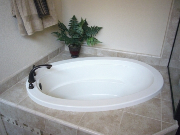 Image of Garden Soaking Tub Garden Bathtub 59 Averill Acrylic Freestanding Corner Tub Bathroom