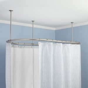 Shower Curtain Rod For Clawfoot Tub