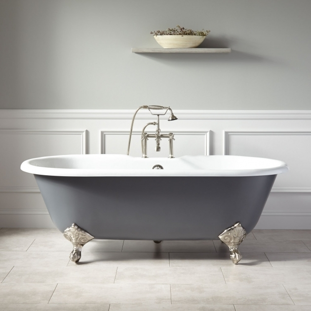 Inspiring 4 Foot Clawfoot Tub 66 Sanford Cast Iron Clawfoot Tub Imperial Feet Dark Gray