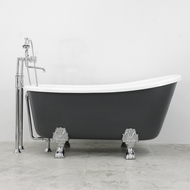 Inspiring 54 Clawfoot Tub Cosimo Coreacryl White Acrylic Swedish Slipper Clawfoot Tub