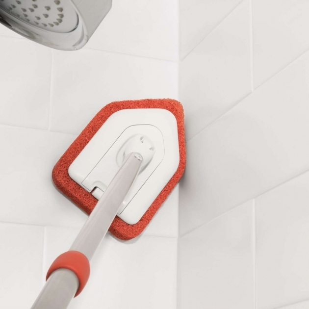 Inspiring Bathtub Scrubber Extendable Tub Tile Scrubber Oxo