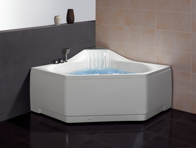 Outstanding Whirlpool Tub Faucets Ariel Bath 59 X 59 Corner Whirlpool Tub With Waterfall Faucet