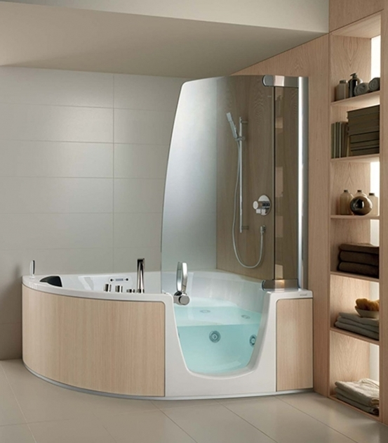 Outstanding Whirlpool Tub Shower Combination Small Corner Bathtub With Shower Hot Tubs Jacuzzis Pinterest