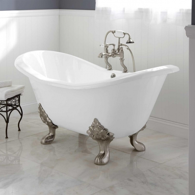 Picture of Cast Iron Soaking Tub Arabella Cast Iron Double Slipper Tub Bathroom