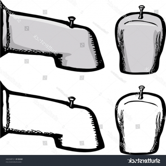 Picture of How To Draw A Bathtub Bathtub Faucet Drawing Over Isolated White Stock Vector 127865084