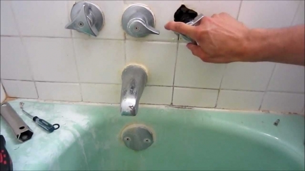 Picture of How To Fix A Leaking Bathtub Faucet Repair Leaky Shower Faucet Youtube