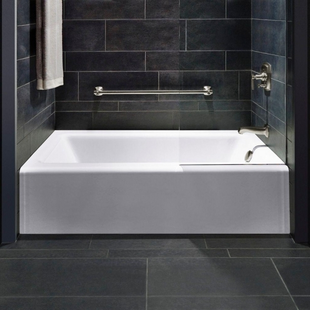 Picture of Kohler Soaking Tubs Deep Kohler Bellwether 5 Ft Left Hand Drain Cast Iron Soaking Tub In