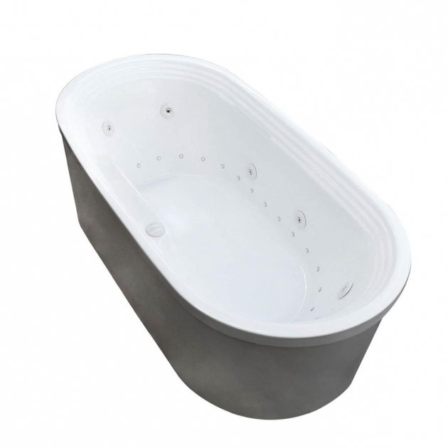 Remarkable Freestanding Whirlpool Tubs Universal Tubs Pearl 56 Ft Center Drain Whirlpool And Air Bath