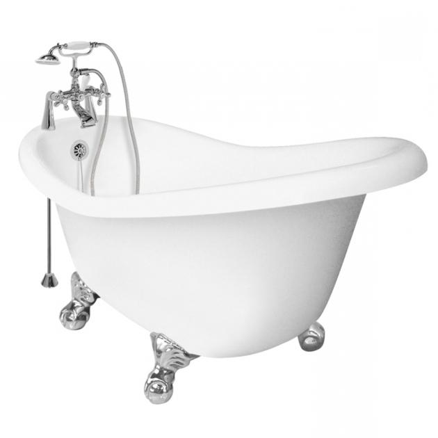 Remarkable Lowes Clawfoot Tub Shop American Bath Factory Ascot Acrylic Round Clawfoot Bathtub