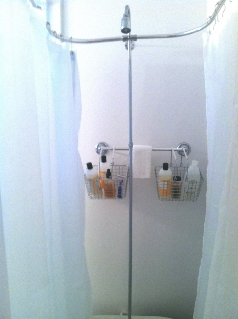 Remarkable Shower Curtains For Clawfoot Tubs Life Clawfoot Tub Shower Curtain Caddy With Chrome Shower