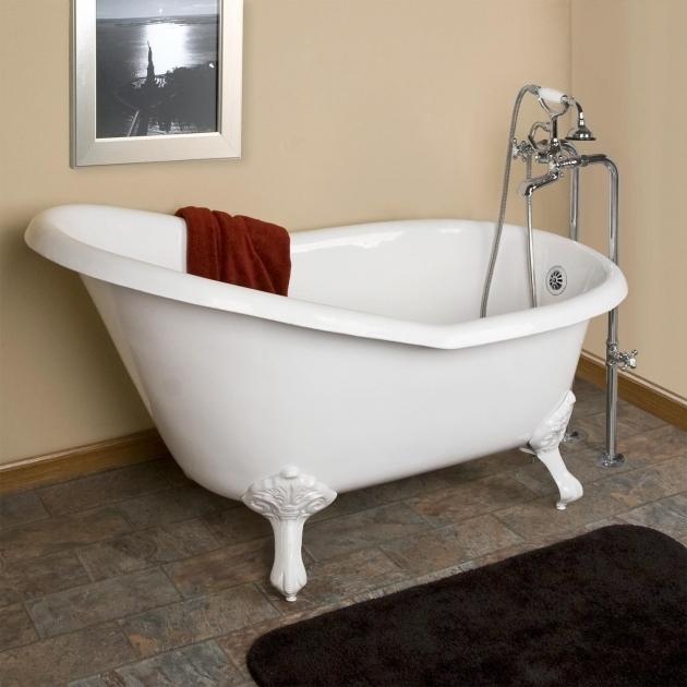 Stunning 54 Clawfoot Tub 54 Emma Cast Iron Slipper Clawfoot Tub Imperial Feet Bathroom