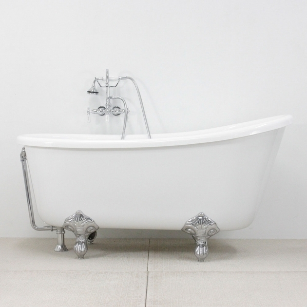 Stunning 54 Clawfoot Tub Hlsw54fpk 54 Hotel Collection Swedish Slipper Clawfoot Tub