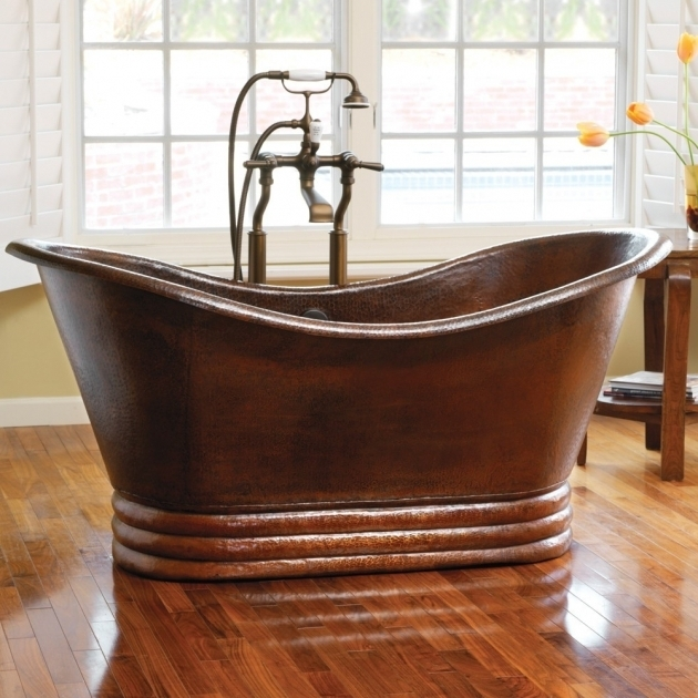 Stunning Copper Soaking Tub Aurora 60 Freestanding Copper Bathtub Native Trails