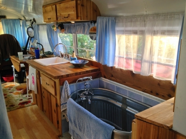 Stunning Galvanized Bathtub Just Right Bus Living With A Water Trough Bathtub