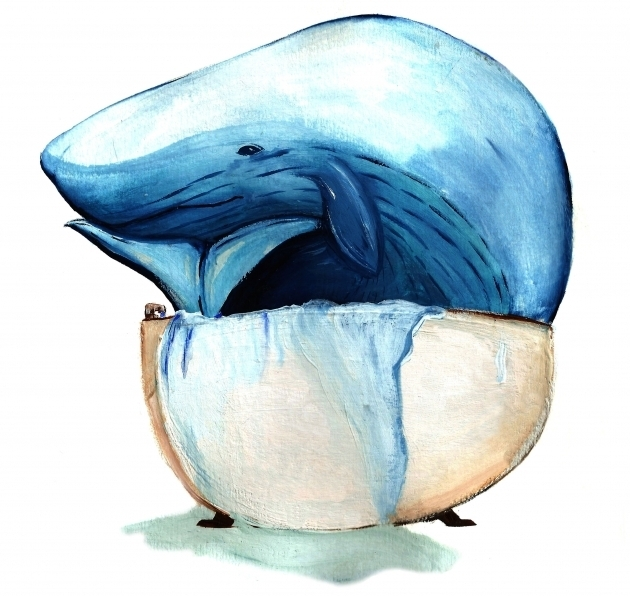 Stunning Whale Bathtub Illustration Paint Animals Story Breakfast Whale Bathtub
