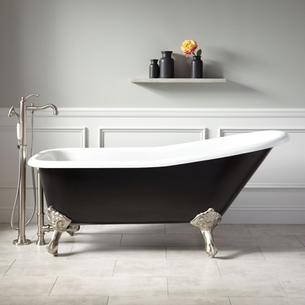 Wonderful Black Clawfoot Tub 66 Goodwin Cast Iron Clawfoot Tub Imperial Feet Black Bathroom