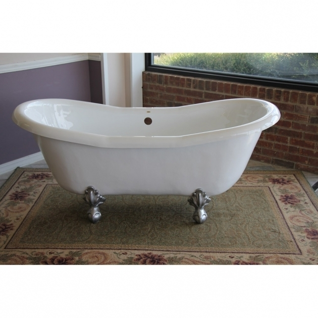 Wonderful Fiberglass Clawfoot Tub Restoria Duchess 68 Inch Double Slipper Clawfoot Tub