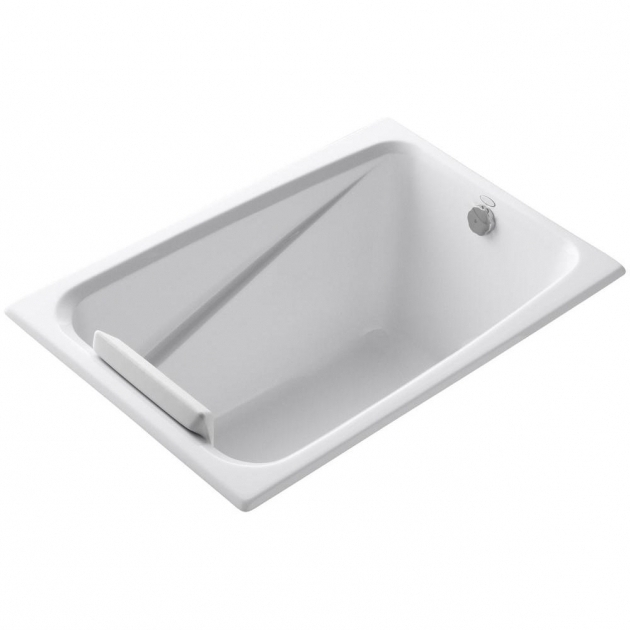 Alluring 48 Soaking Tub Kohler Greek 4 Ft Reversible Drain Acrylic Soaking Tub In White K