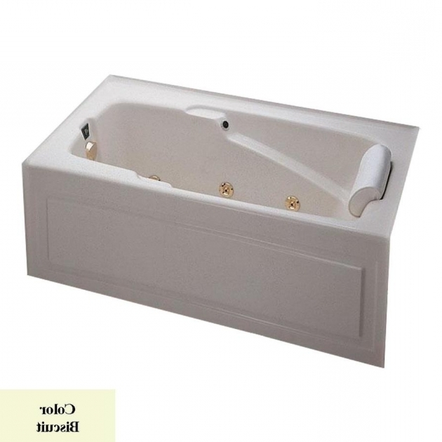 Amazing Alcove Whirlpool Tub Shop Laurel Mountain Mercer V 60 In Biscuit Acrylic Alcove