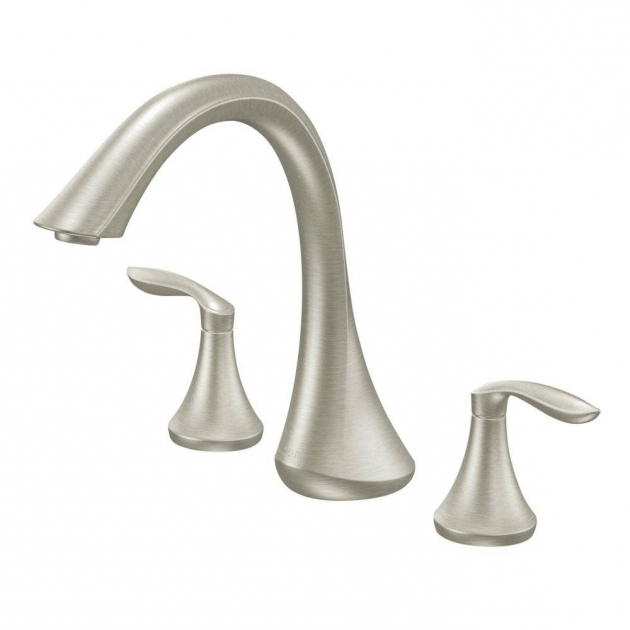 Amazing Bathtub Faucet Kit Moen Eva 2 Handle Deck Mount Roman Tub Faucet Trim Kit In Brushed