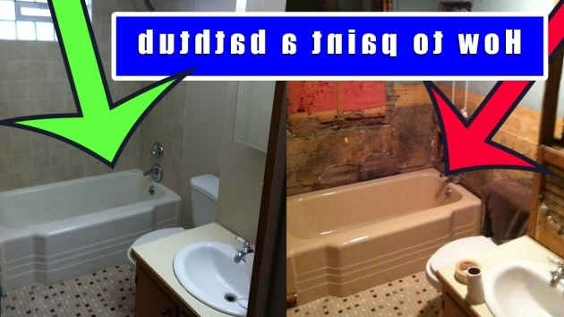 Amazing Spray Paint Bathtub How To Paint A Bathtub How To Refinish An Old Bath Tub Youtube