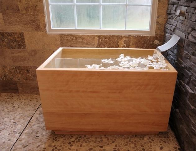 Amazing Wood Soaking Tub Hinoki Ofuro Tub Luxury Bathroom Products