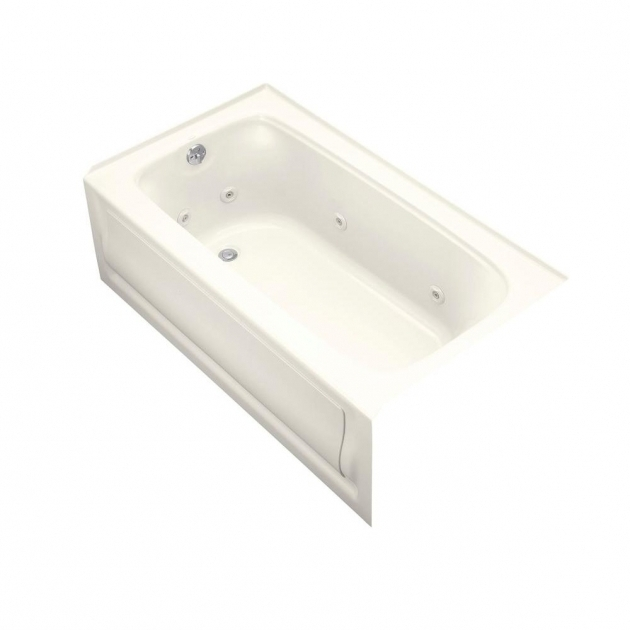 Awesome Alcove Whirlpool Tub Kohler Archer 5 Ft Acrylic Right Drain Rectangular Alcove