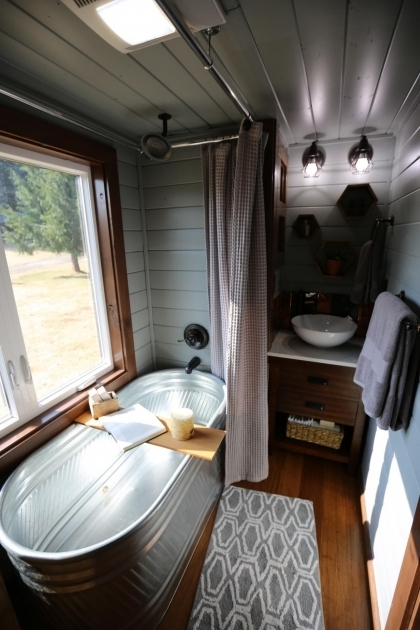 Awesome Galvanized Soaking Tub Tiny Luxury 9 Things You Gain When You Go Tiny Spa Shower And