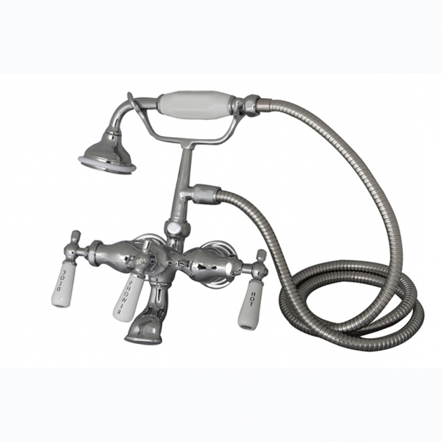 Beautiful Faucets For Clawfoot Tubs Shop Barclay Polished Chrome 3 Handle Freestandingwall Mount