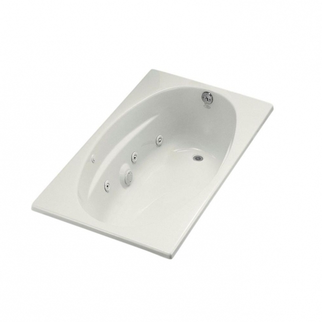 Beautiful Kohler Whirlpool Tubs Kohler 5 Ft Acrylic Oval Drop In Whirlpool Bathtub In White K
