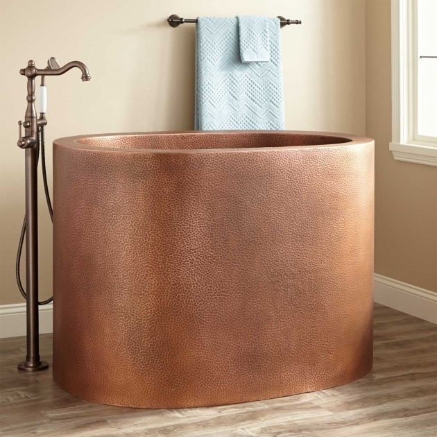 Fascinating 48 Soaking Tub 48 Raksha Copper Japanese Soaking Tub Bathroom