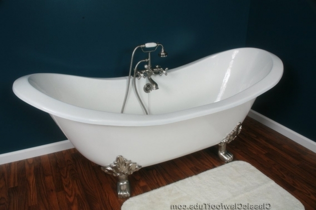 Gorgeous Double Slipper Clawfoot Tub 71 Cast Iron Double Ended Slipper Clawfoot Tub Wlions Feet