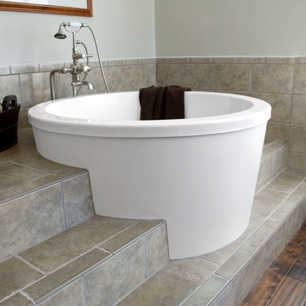 Image of 48 Inch Soaking Tub Modern Soaking Tubs