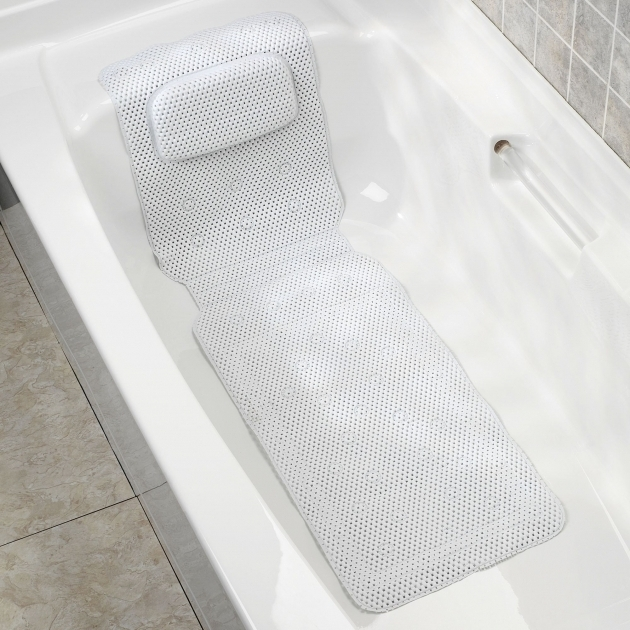 Image of Bathtub Spa Mat Deluxe Foam Bathtub Mat With Spa Pillow