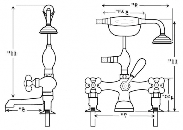 Image of Clawfoot Tub Dimensions Barclay Vintage Leg Tub Faucets And Accessories