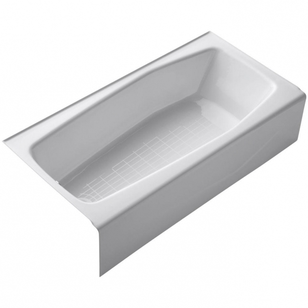 Image of Kohler Whirlpool Tubs Kohler Villager 5 Ft Cast Iron Right Hand Drain Rectangular