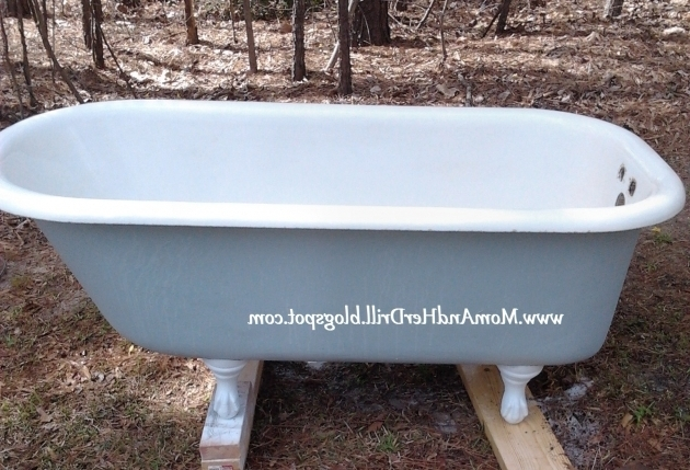 Image of Old Clawfoot Tub Refinishing The Porcelain Tub Sinks The Bottle That Fixed