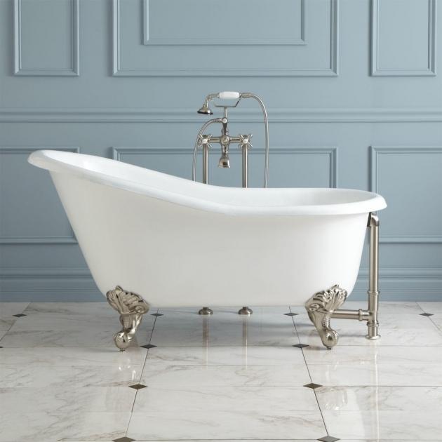 Incredible Double Slipper Clawfoot Tub 57 Erica Cast Iron Slipper Clawfoot Tub Imperial Feet Bathroom