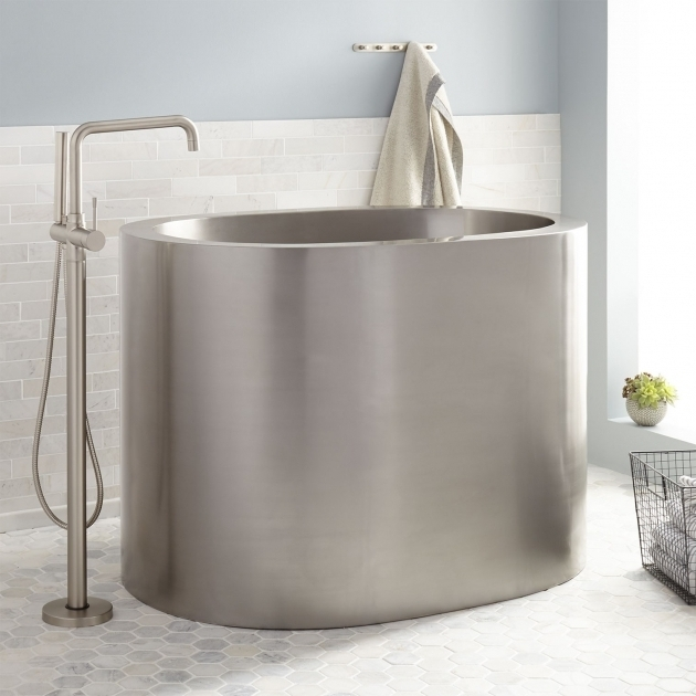 Inspiring 48 Soaking Tub 48 Raksha Stainless Steel Japanese Soaking Tub Bathroom